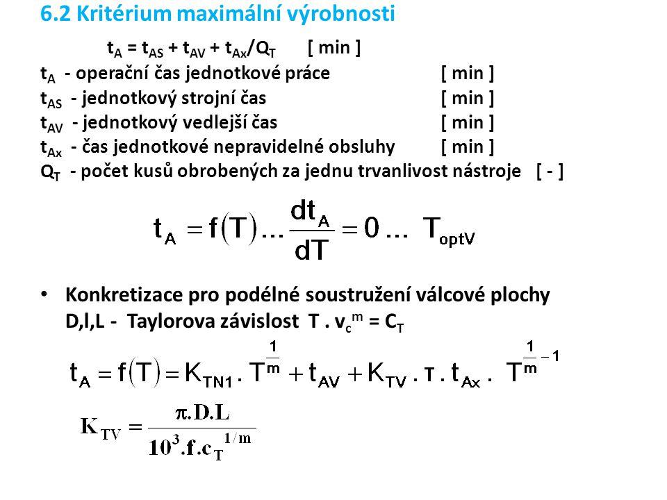 tA = tAS + tAV + tAx/QT [ min ]